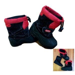 ☔️Totes Kids Toddler Boys Timmy Black Snow Boots